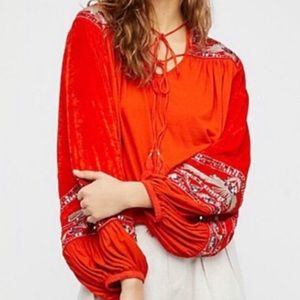 Free People Hearts Aflame Top